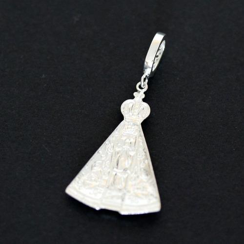 pingente de prata 925 nossa senhora aparecida