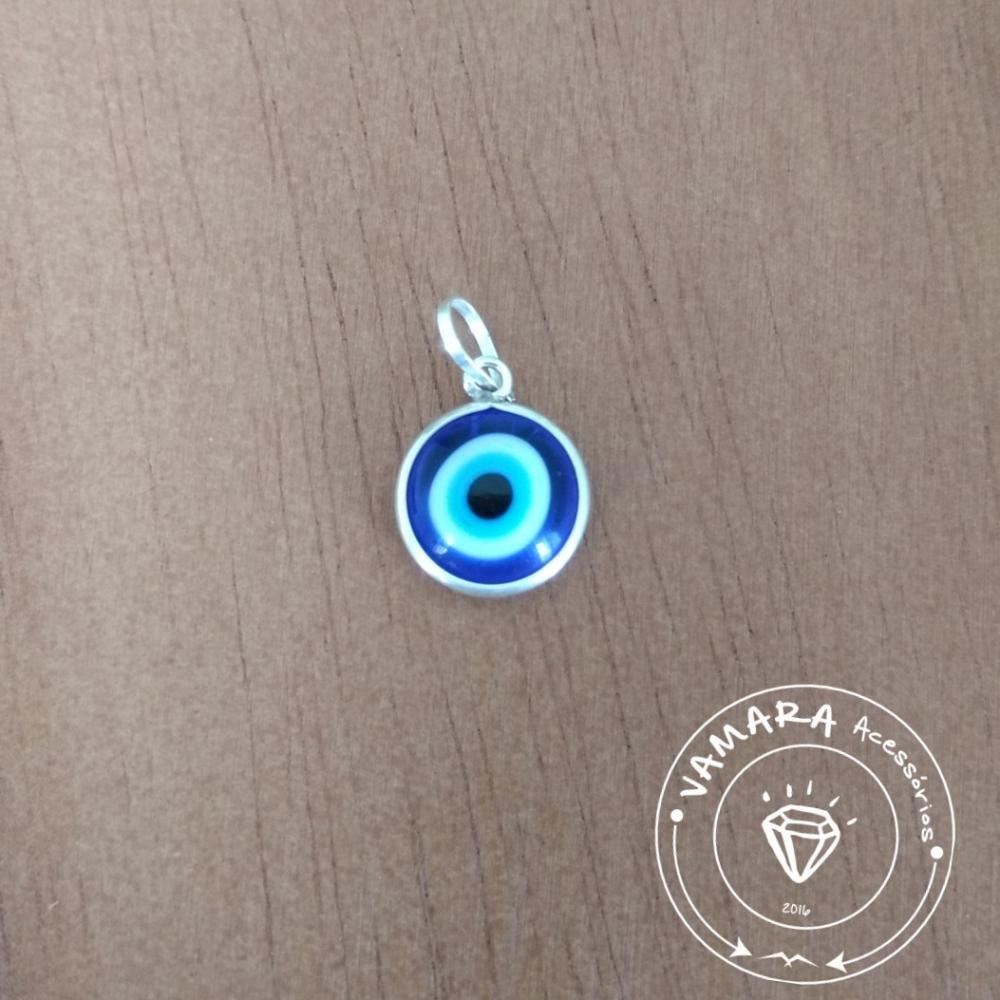 65cf02d9ed211 pingente de prata 925 olho grego murano azul escuro. Carregando zoom.