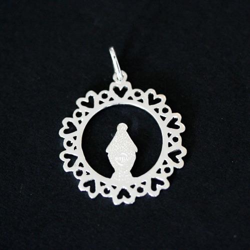 pingente de prata 925 sagrada nossa senhora das graças