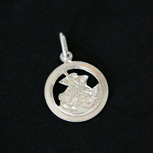 pingente de prata 925 são jorge