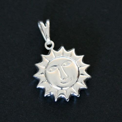 pingente de prata 925 sol