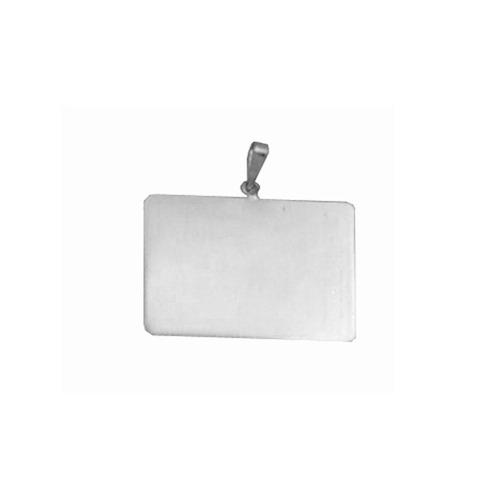 pingente de prata com foto gravada / fotogravação  10.5 mm