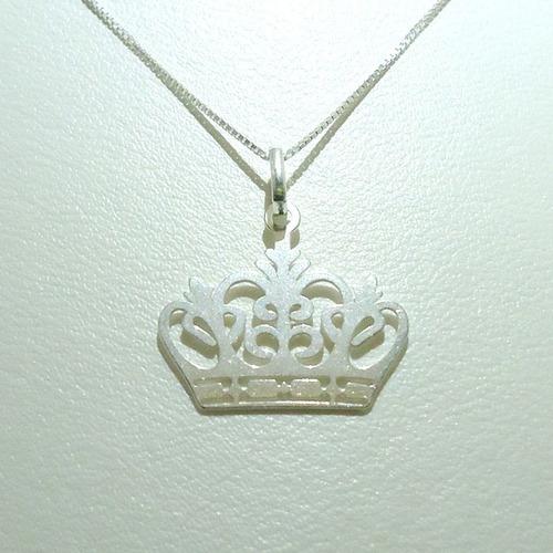 pingente de prata de lei coroa