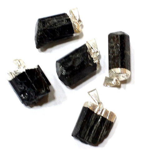 pingente de turmalina negra 2cm pedra natural para proteção