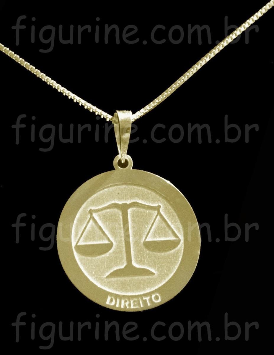 pingente direito   profissão em prata 925 banhada a ouro 18k. Carregando  zoom. cc9c8f7c51