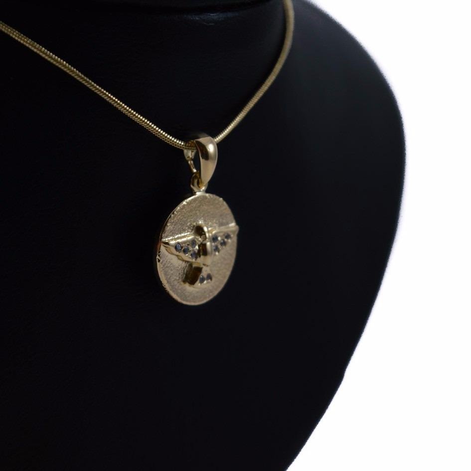pingente divino espírito santo c zircônias folheado ouro 18k. Carregando  zoom. 9f45b8c5b5