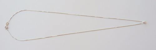 pingente e corrente em ouro branco 18k e brilhante 1083