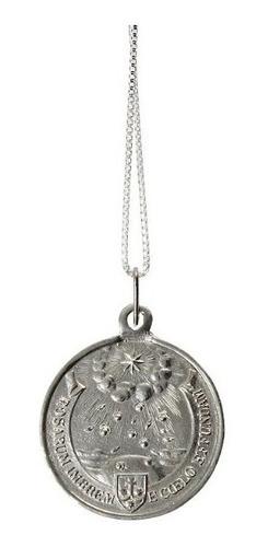 pingente e corrente santa teresinha menino jesus prata 950