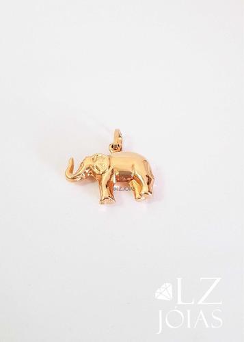 pingente elefante feminino ouro 18k