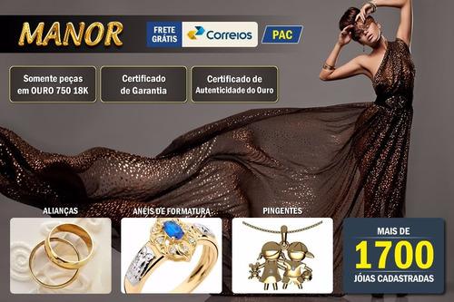 pingente em ouro 18k com diamante - c/ corrente - pg142