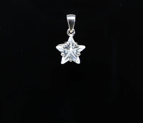 pingente em prata 925 - estrela 7mm