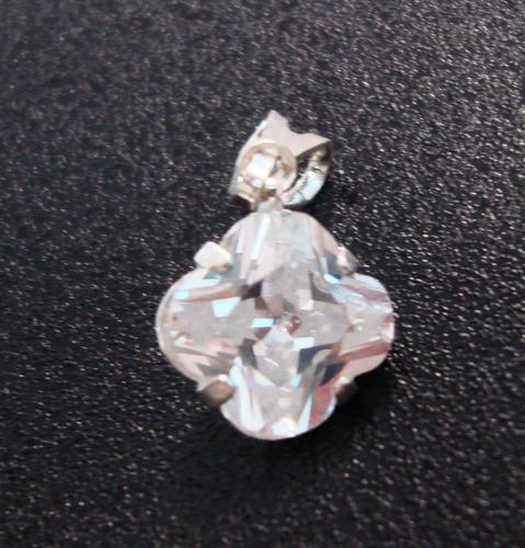 pingente em prata 925 - trevo 7mm -