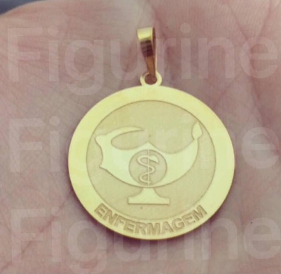 pingente enfermagem   profissão em prata banhada a ouro 18k. Carregando  zoom. bb499dce47