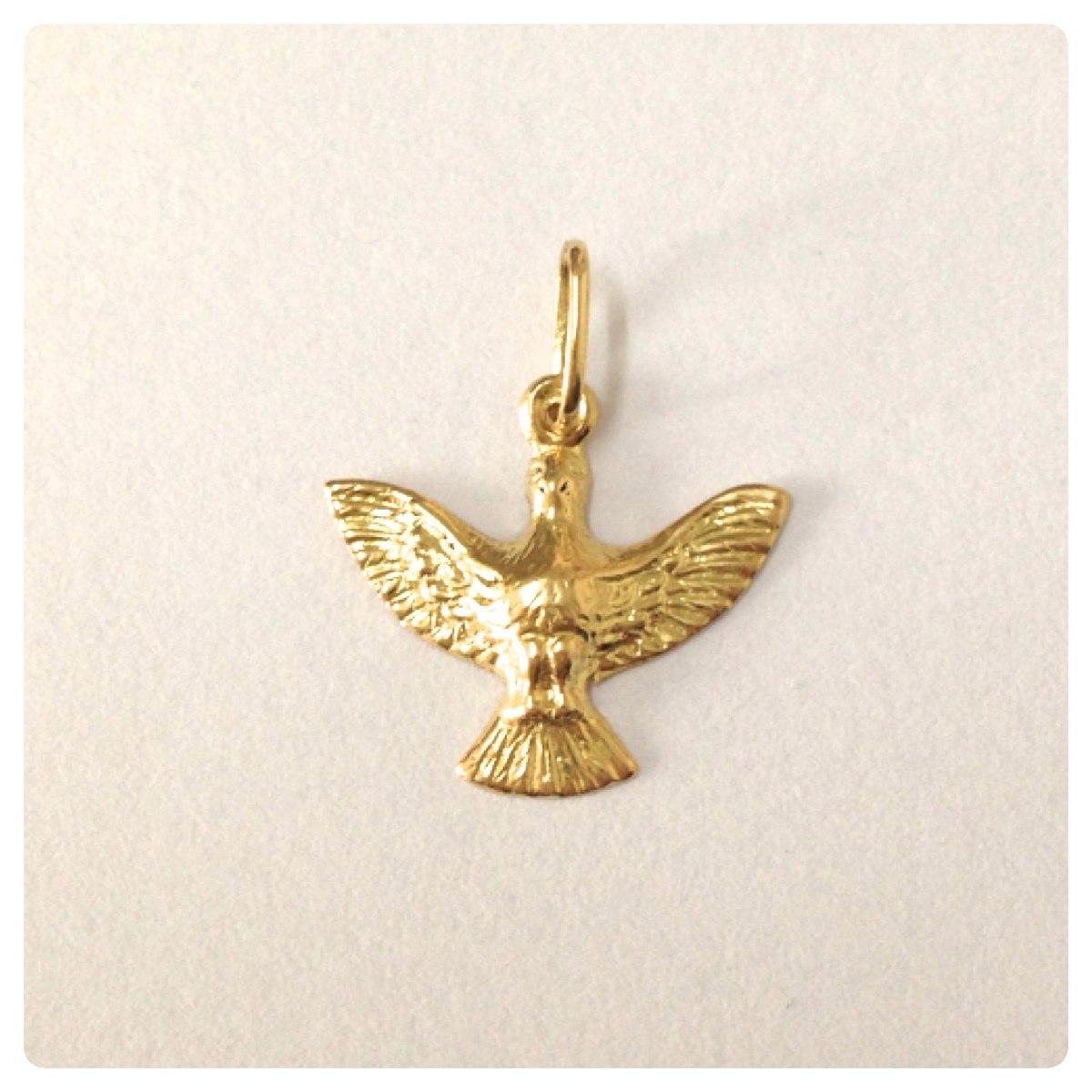 cd3b2525695d4 pingente espirito santo ouro 18k joia com certificado lindo! Carregando  zoom.