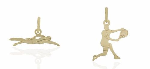 pingente esporte tenis natação judo corrida ginastica