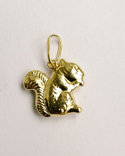 pingente esquilo ouro 18 kl 750