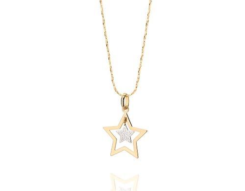 pingente estrela vazada estrela em rommanel 541651