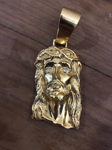 pingente face cristo ideal cordões 7 a 13mm banhado ouro 18k