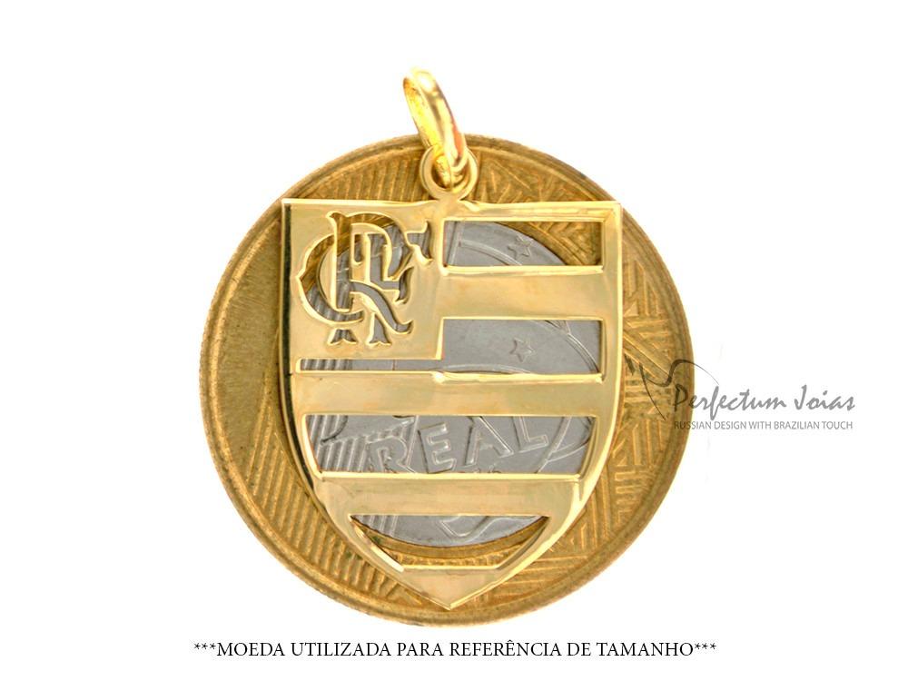 Pingente Feminino Ou Masculino Flamengo 100% Ouro 18k (750) - R  295 ... b469f8e0ae