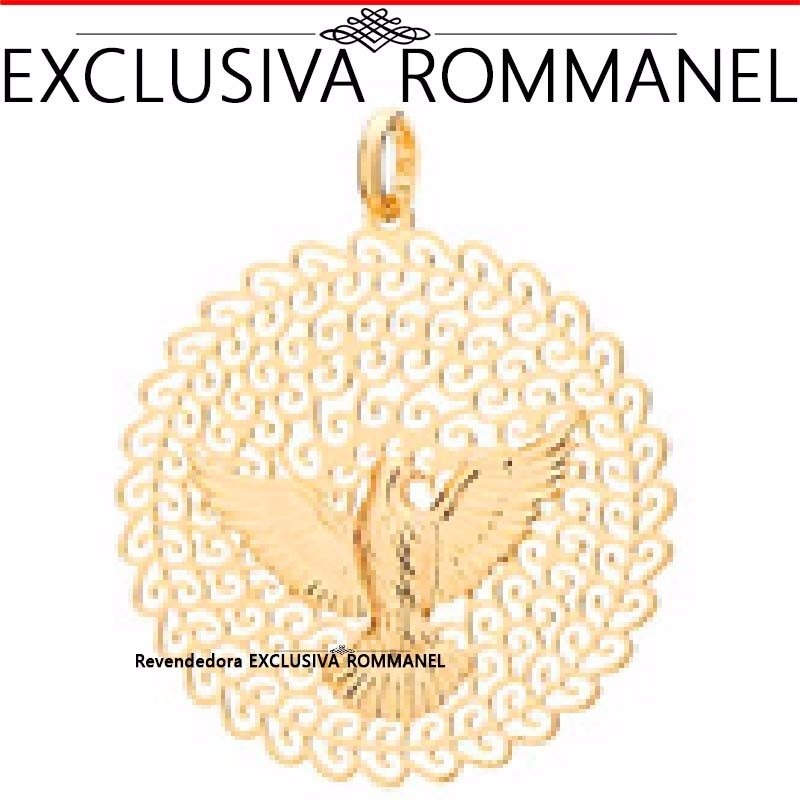 Rommanel Pingente Espírito Santo Pomba Folh Ouro 18k 541526 - R  89 ... 07a66c2478
