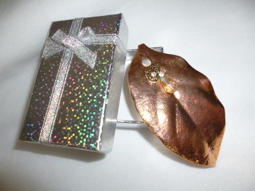 pingente - folha - em cobre - joias - exclusivo