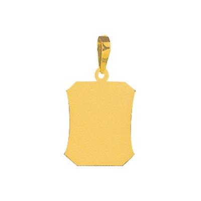 pingente folheado a ouro com foto gravada / fotogravação 18