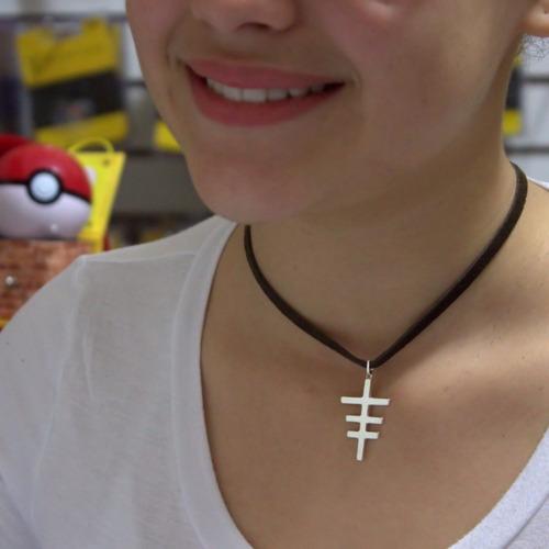 pingente folheado a prata - cruz três travas - 1220p