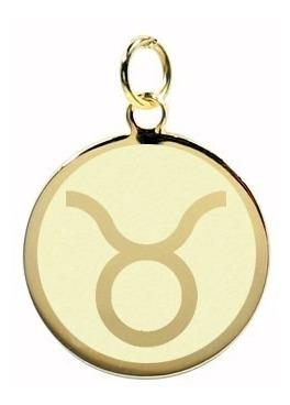 pingente folheado, banhado a ouro - signo touro nome verso