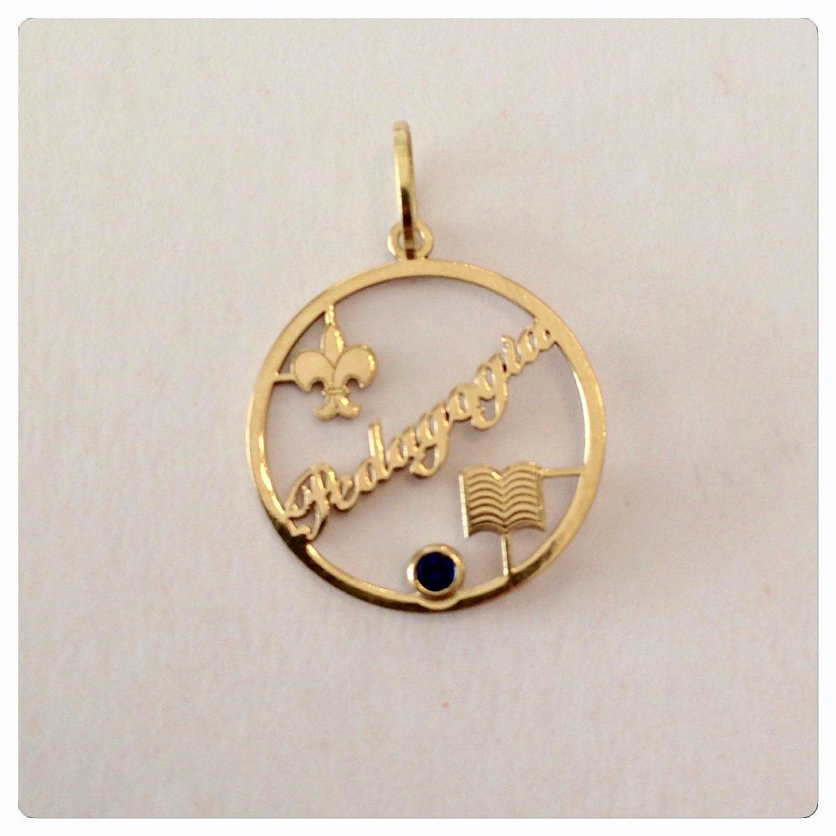 ff7d4239d29ee pingente formatura pedagogia ouro 18k jóias graduação. Carregando zoom.
