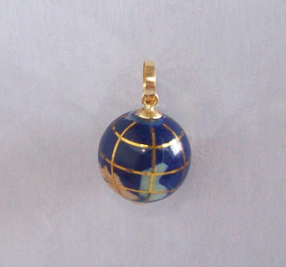 e93ae959bbe81 pingente globo terrestre em ouro 18k. Carregando zoom.