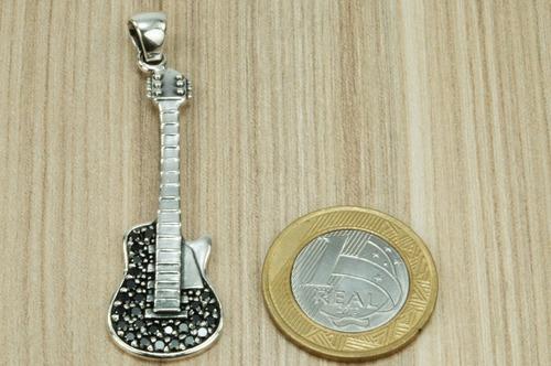 pingente guitarra bali prata 925 (l)