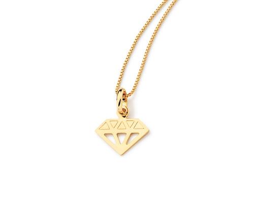 pingente infantil diamante detalhes vazados ouro rommanel