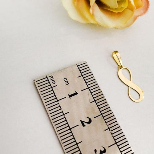 pingente infinito liso em ouro 18k namorada noivado