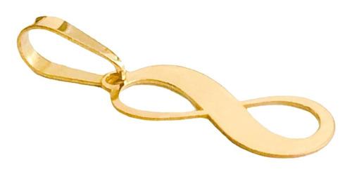 pingente infinito liso em ouro 18k namorada noivado full
