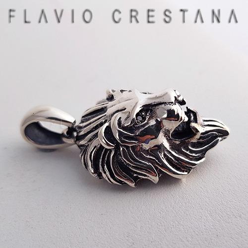 pingente leão, zirconias negras, prata 925, fabricacao propr