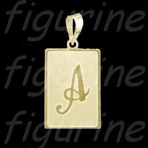fab324516f5e7 Pingente Letra Inicial Nome Placa Banhada A Ouro M - R  79,99 em ...