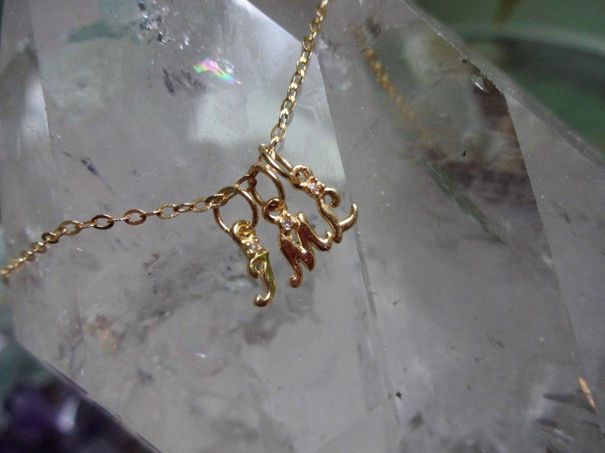 pingente letras mini mini diamante ouro 18k. encomende a sua. Carregando  zoom. d79dcdb14e