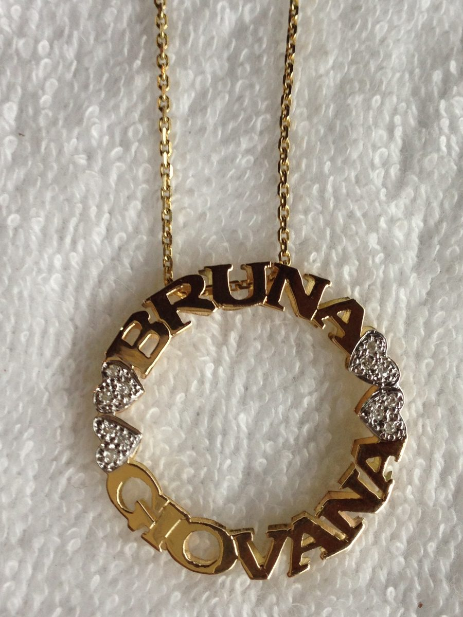 efe5f6ef95509 pingente mandala com nome e diamantes ouro 18k. 30 mm. Carregando zoom.