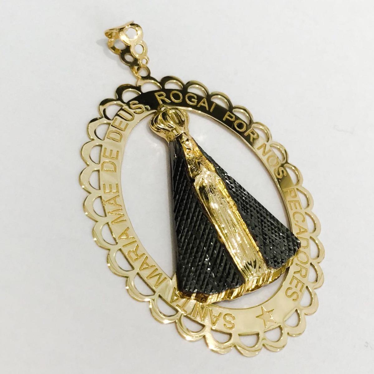 b4c01192db708 pingente mandala nossa senhora aparecida ouro 18k linda jóia. Carregando  zoom.