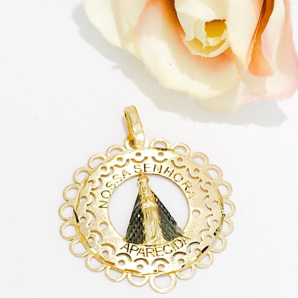 Pingente Mandala Nossa Senhora Da Aparecida Ouro18k - R  416,90 em ... df6460ca1c
