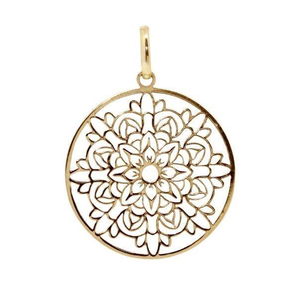 Pingente Mandala Ouro 18k - Cod.20382 - Cor Ouro Amarelo - R  429,90 ... 83dee27025