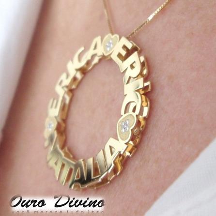 3f15b461a2e6c Pingente Mandala Ouro 18k Personalizado Promoção C  Diamante ...