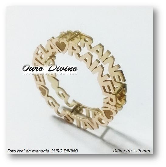6d28ddd5ad02a Pingente Mandala Ouro 18k Personalizado Promoção C  Diamante - R ...
