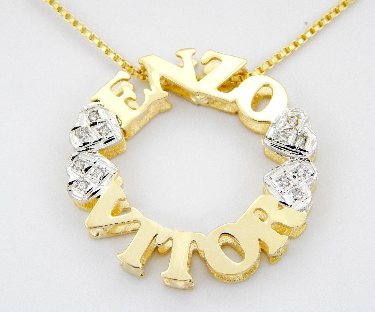 01c1ab756c876 pingente mandala personalizada folheada a ouro 18k. Carregando zoom.
