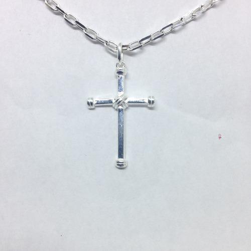 pingente masculino crucifixo em prata 925 maciça italiano