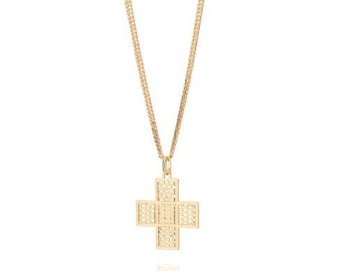 pingente masculino cruz detalhes coração, rommanel 541824