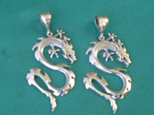 pingente masculino dragão bali prata 925  frete gratis !!