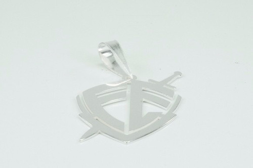 pingente masculino escudo da fé em prata 925