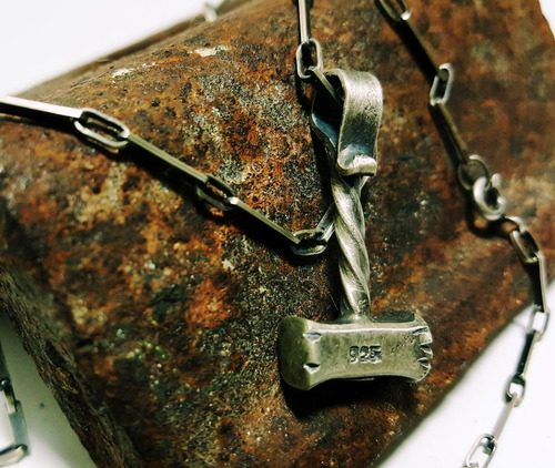 pingente masculino prata com corrente