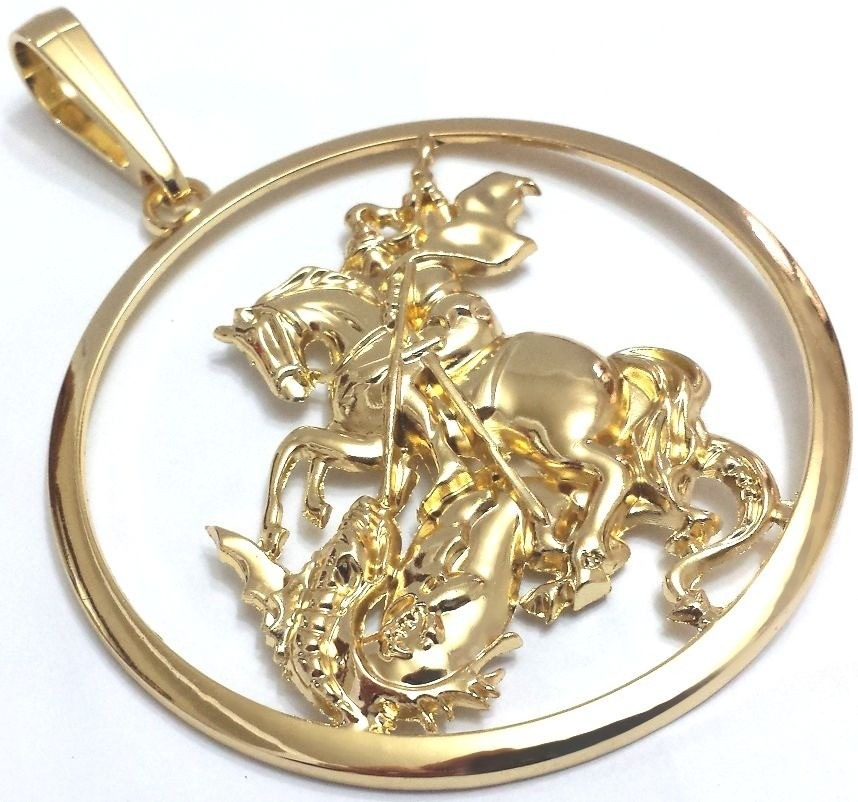 Pingente Masculino São Jorge Folheado A Ouro - R  19,69 em Mercado Livre d4c4693b5e